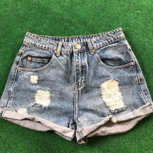 Pants - High Rise Denim Shorts